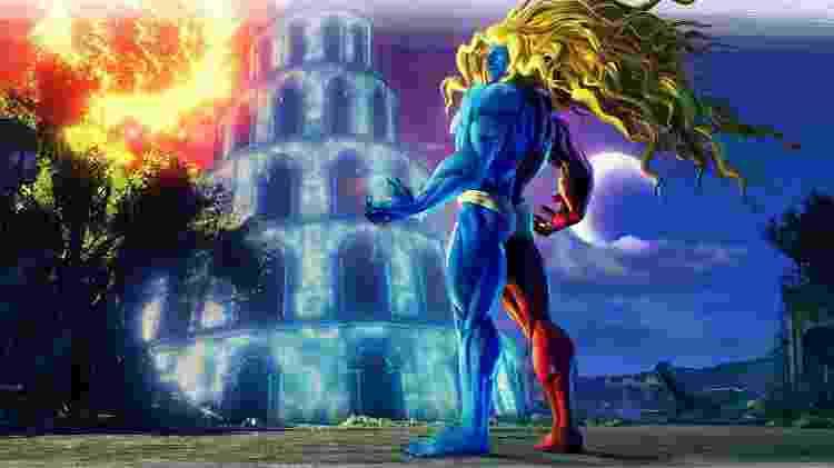 Gill, de Street Fighter III, é o novo boneco do jogo - Divulgação