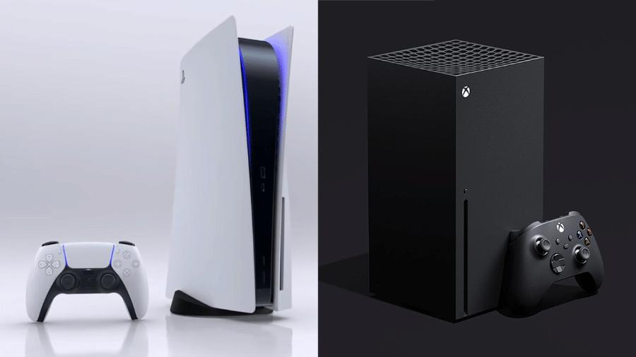 PS5 e Xbox Series X lado a lado - Montagem: Control Freak / Divulgação (Microsoft, Sony)