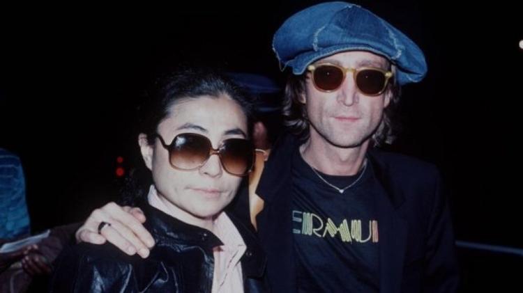 John Lennon e Yoko Ono não muito antes da morte dele - GETTY IMAGES - GETTY IMAGES