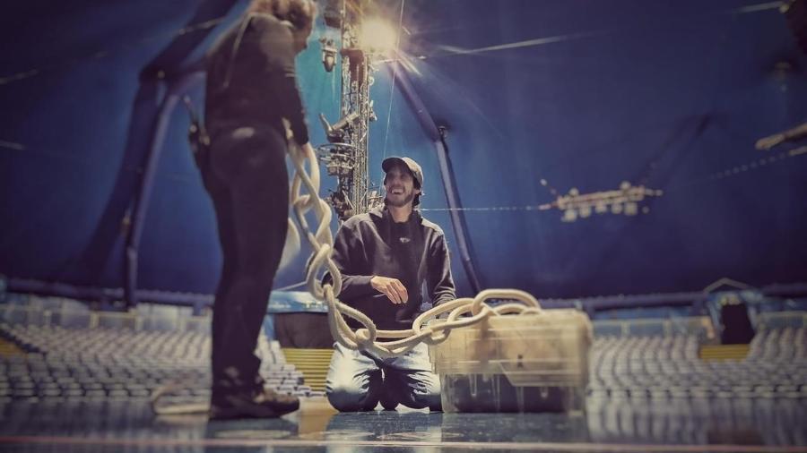 Renan Gradaschi nos tempos de Cirque du Soleil - Arquivo pessoal