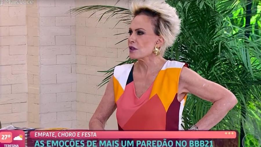 """Ana Maria Braga no programa """"Mais Você"""" - Reprodução/TV Globo"""
