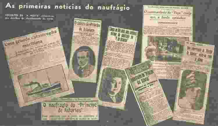 Notícias do naufrágio do Príncipe de Astúrias - Blog do historiador Jeannis Platon - Blog do historiador Jeannis Platon