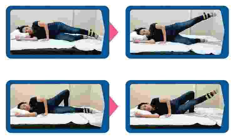 Fortalecer os músculos do quadril - Reprodução/Cartilha de exercícios do Hospital Einstein  - Reprodução/Cartilha de exercícios do Hospital Einstein