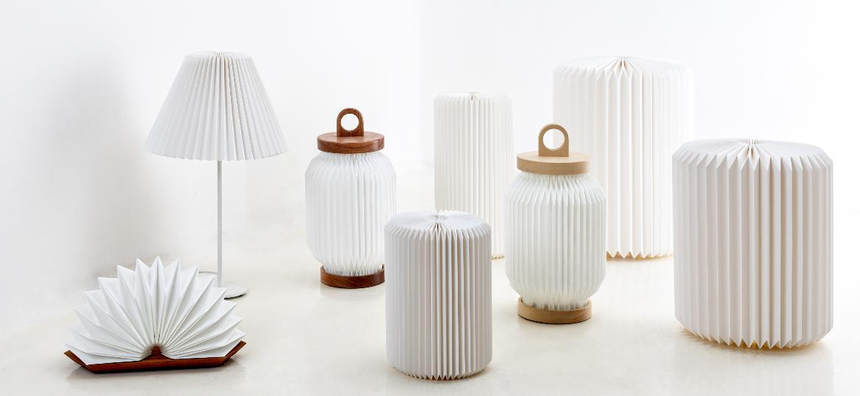 Descendente de quatro avós japoneses, Mel Kawahara cria luminárias que exploram estética que reflete sua origem - Divulgação
