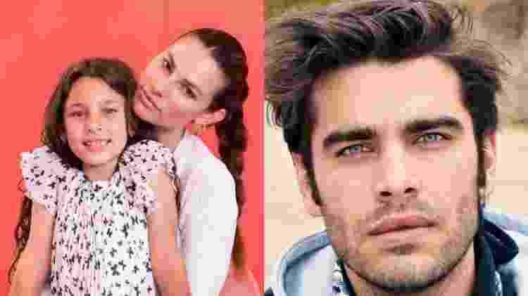 A Fazenda 2021: Dayane Mello com a filha, Sofia, e o ex-marido, o modelo Stéfano Sala - Reprodução/Instagram - Reprodução/Instagram
