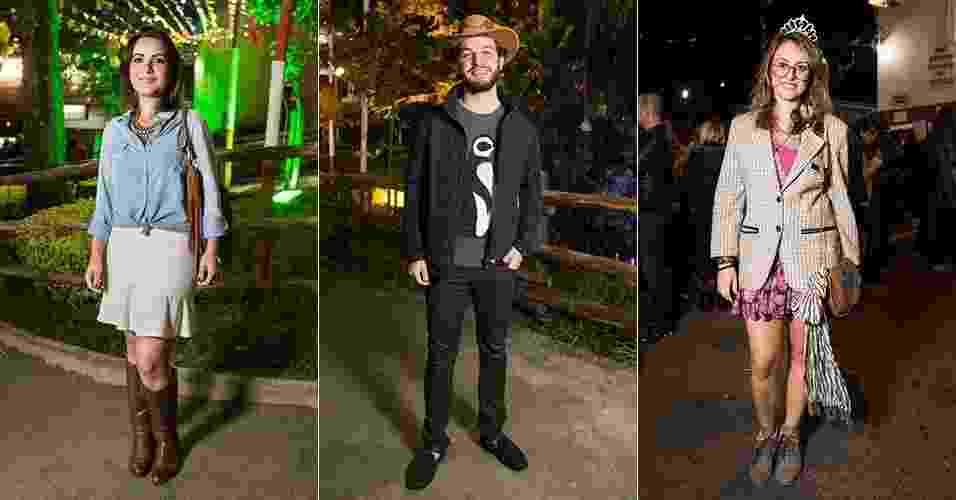 O UOL Moda esteve nas quermesses do Clube Paineras do Morumby e da Igreja do Calvário, em São Paulo (SP), para conferir o que o público usa para ir às festas juninas da cidade. A clássica camisas xadrez é a favorita. Ela foi combinada com calças ou shorts jeans, jaquetas de couro e botas. As franjas e lenços complementam os visuais mais comportados, enquanto os chapéus dão um toque mais caricato e divertido a outros looks - Gabriel Quintão/UOL