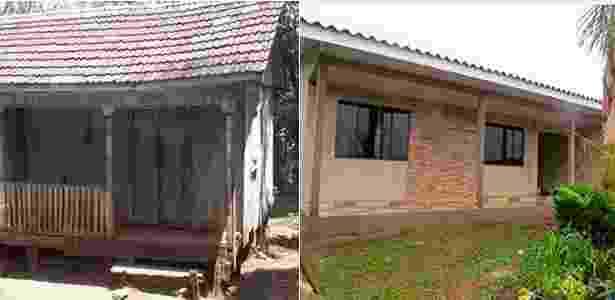 Casa dos pais do Cézar antes e depois - Arquivo Pessoal - Arquivo Pessoal