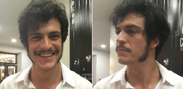 """24.fev.2016 - Mateus Solano exibe pela primeira vez novo visual para a novela """"Liberdade, Liberdade"""" - Ana Cora Lima/UOL"""