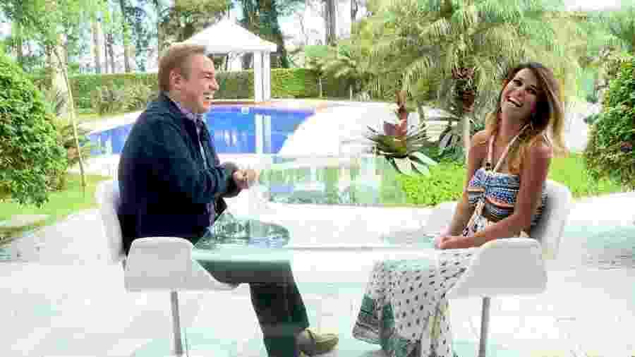 Gugu Liberato entrevista Nana Magalhães, mulher do deputado e humorista Tiririca - Divulgação/RecordTV