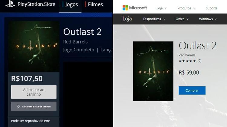 """No PS4, """"Outlast 2"""" custa quase o dobro do cobrado no Xbox ..."""