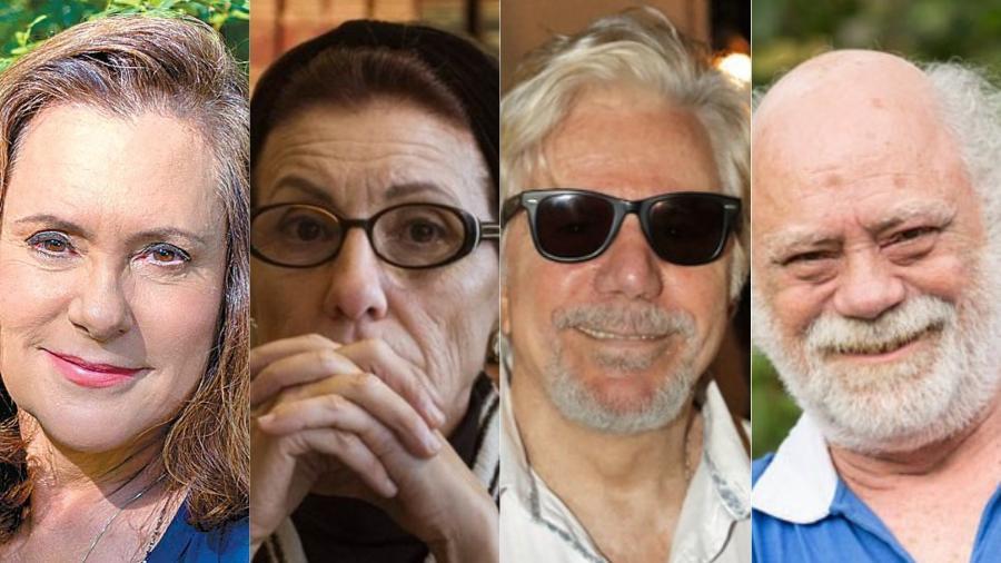 Elizabeth Savalla, Cássia Kiss, Reginaldo Farias e Tonico Pereira são alguns dos famosos que estão no time dos atores que volta e meia estão no ar em produções - Divulgação TV Globo/Montagem UOL
