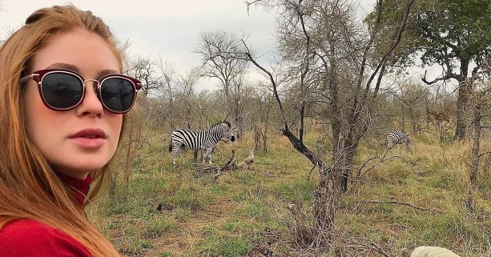 """""""Deu zebra"""", brincou Marina durante safári na África do Sul"""