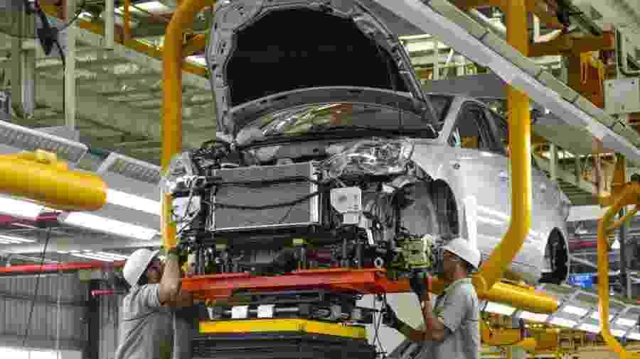 Fábrica da Caoa Chery em Jacareí, no interior paulista, produz motores, bem como os modelos Arrizo 5 e Tiggo 2 - Lucas Lacaz Ruiz/A13