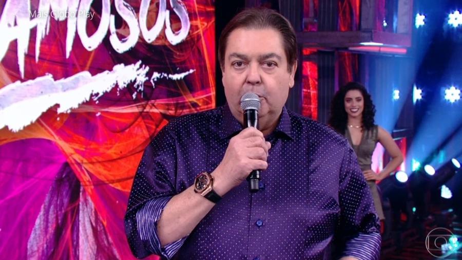 Fausto Silva em seu programa na Globo - Reprodução/TV Globo