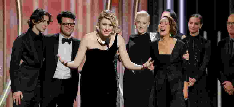 Greta Gerwig tornou-se a quinta mulher na história da premiação a ser indicada como melhor diretora, por Lady Bird -  Paul Drinkwater/Courtesy of NBC/Handout via REUTERS