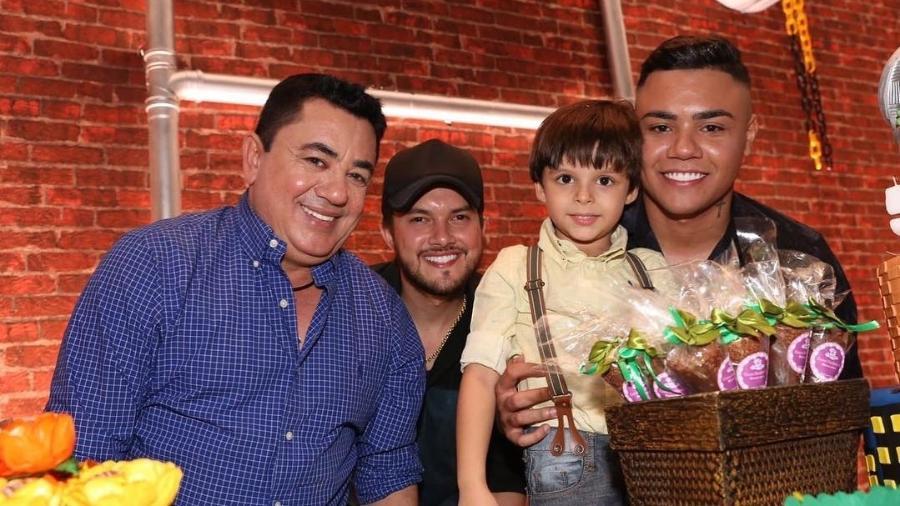 João Reis,  Vitor Leonardo, Bernardo e Felipe Araújo - Reprodução/Instagram