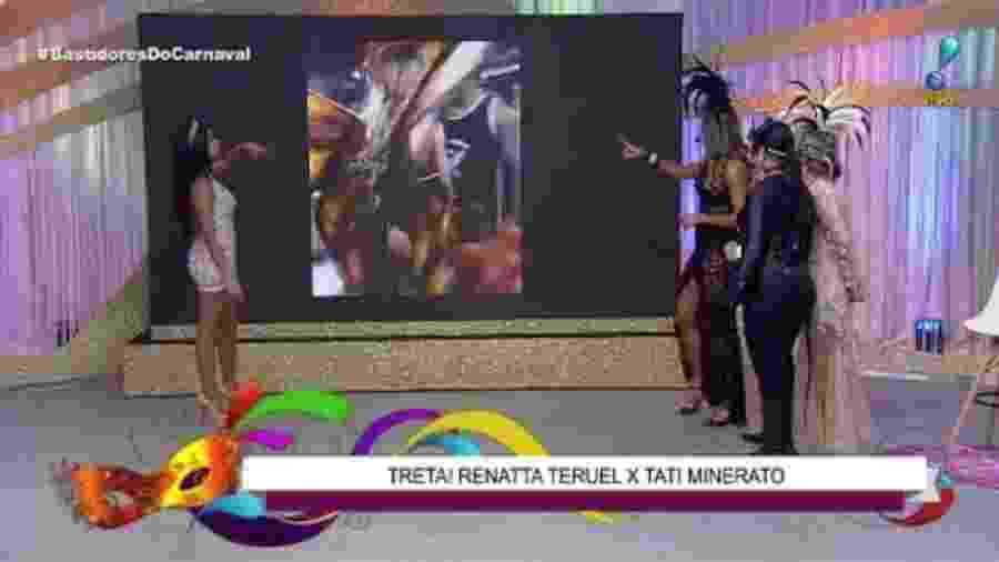 """Renatta Teruel analisa briga com Tati Minerato no programa """"Bastidores do Carnaval"""", da RedeTV! - Reprodução/RedeTV!"""