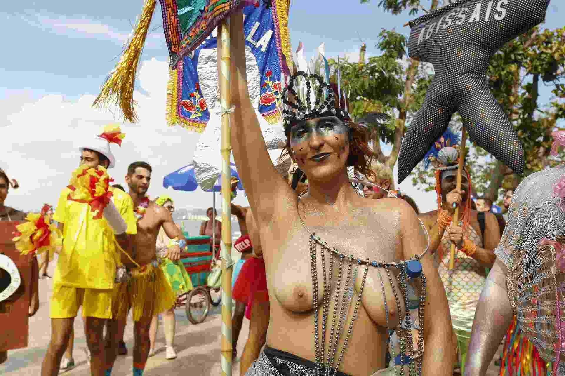 Desfilando pelo segundo ano, o bloco Sereias da Guanabara celebra a diversidade e o respeito - Marcelo de Jesus/UOL