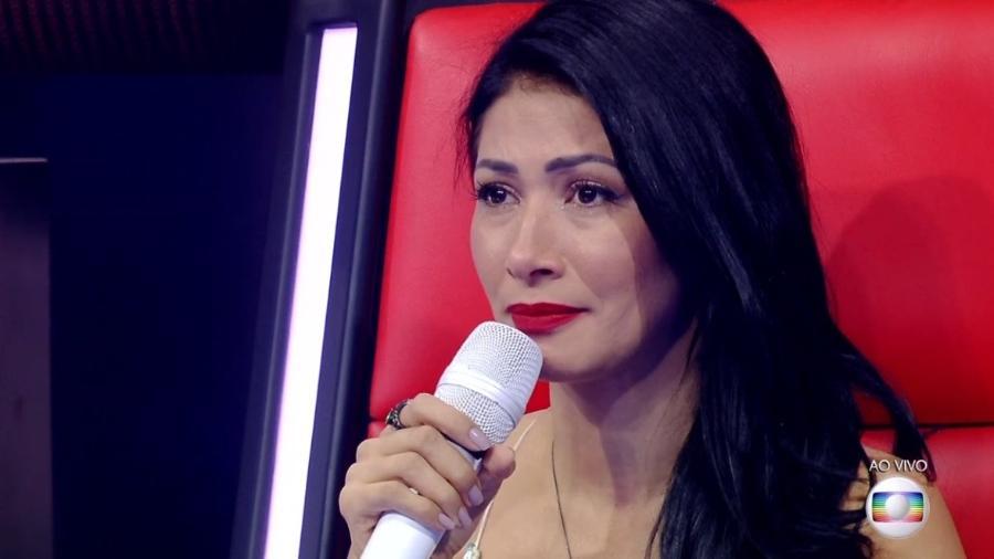 """Simaria chora na transmissão ao vivo da final do """"The Voice Kids Brasil"""" - Reprodução/TV Globo"""