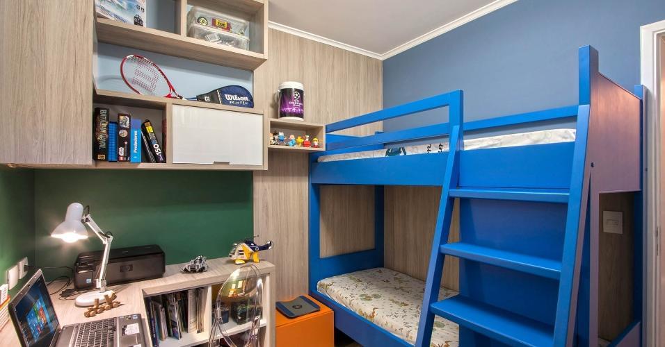 A ideia era otimizar ao máximo o quarto de um menino de oito anos