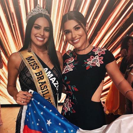 Vivian Amorim posa com a Miss Brasil Mayra Dias - Reprodução/Instagram