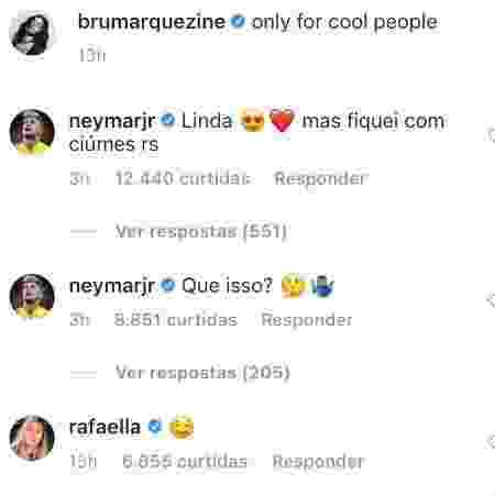 """Neymar comenta em foto de Marquezine: """"Fiquei com ciúmes"""" - Reprodução/Instagram - Reprodução/Instagram"""