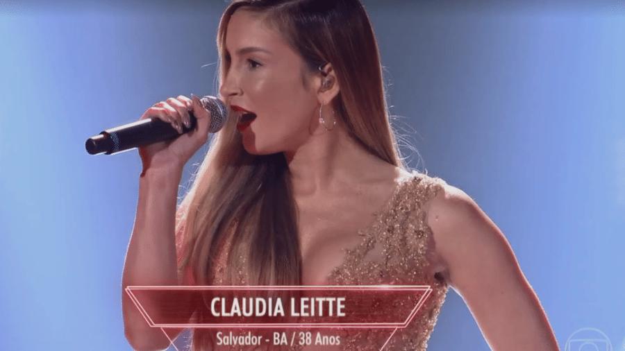 """A cantora Claudia Leitte faz aparição surpresa no """"The Voice Brasil"""" - Reprodução/TV Globo"""