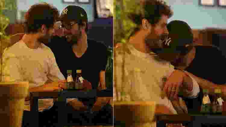 Maurício Destri e Gil Coelho trocam carinhos em bar no Rio - AgNews - AgNews