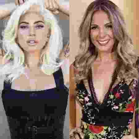 """""""Parece a Carla Perez com pneumonia"""", diz Silvio Santos sobre Lady Gaga - Divulgação/Montagem UOL - Divulgação/Montagem UOL"""