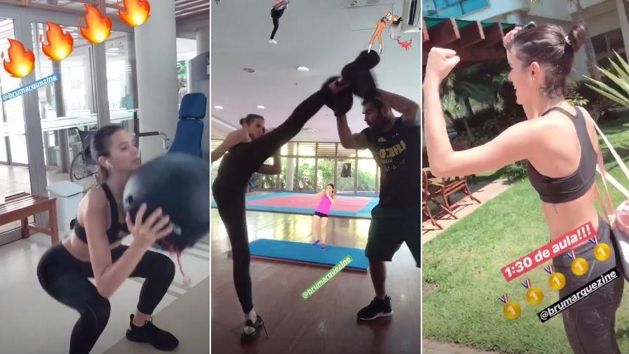 Bruna Marquezine faz treino com Chico Salgado - Reprodução/Instagram