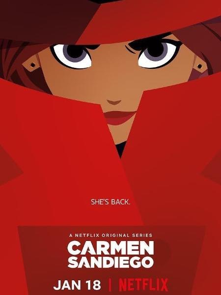 """Pôster de """"Carmen Sandiego"""", da Netflix - Reprodução/Twitter"""