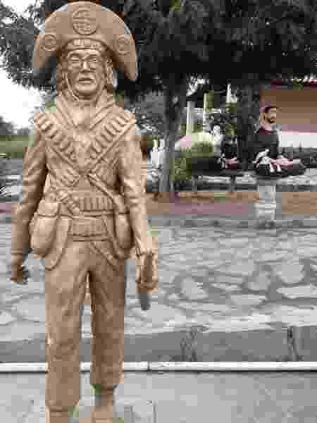 A estátua que a fundação pretende instalar em Serra Talhada  - Museu do Cangaço de Serra Talhada