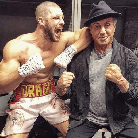 """Florian """"Big Nasty"""" Munteanu posta foto ao lado de Sylvester Stallone - Reprodução/Instagram"""