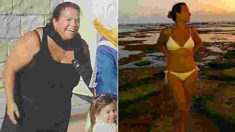 Cynthia Sangalo, irmã de Ivete, antes e depois de fazer cirurgia bariátrica - Reprodução/Instagram