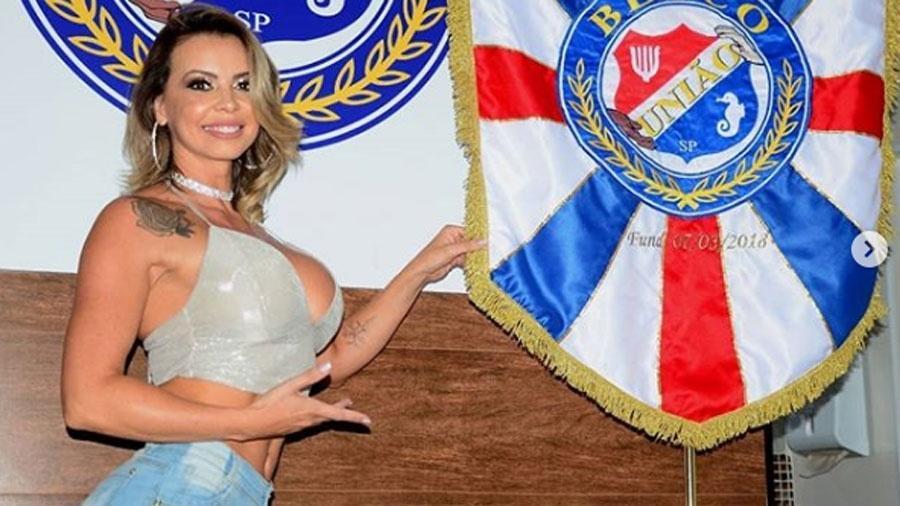 Modelo Gizelle Maritan será coroada como madrinha do bloco - Reprodução/Instagram