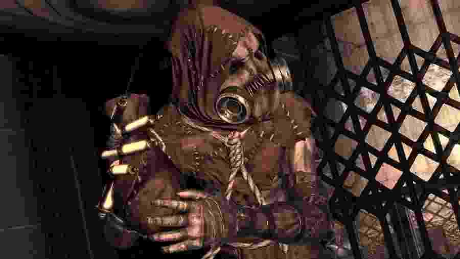 """Espantalho é um dos vilões em """"Batman: Arkham Asylum"""" - Reprodução"""