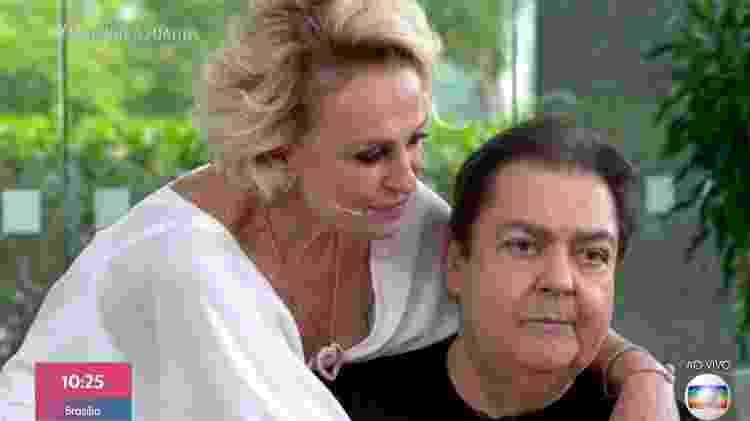 Ana Maria e Faustão se abraçam - Reprodução Globo