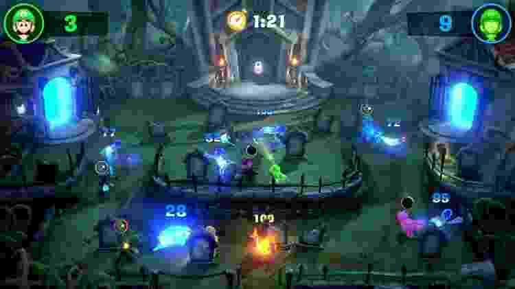Multiplayer é uma corrida contra o tempo - Divulgação/Nintendo