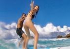 Pedro Scooby surfa com a namorada, Cintia Dicker, em Noronha - Reprodução/ Instagram
