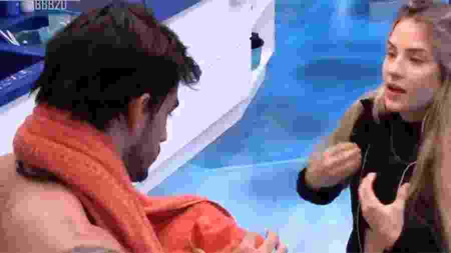 BBB 20 - Guilherme e Gabi conversam - Reprodução/Globo