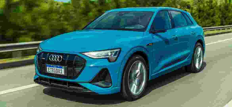 e-tron SUV foi o primeiro de uma gama de elétricos que a Audi venderá no país - Divulgação/Audi