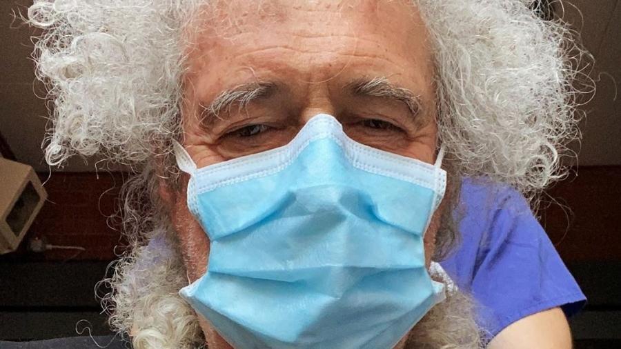 Brian May, do Queen, tem acidente doméstico inusitado durante quarentena - Reprodução/Instagram