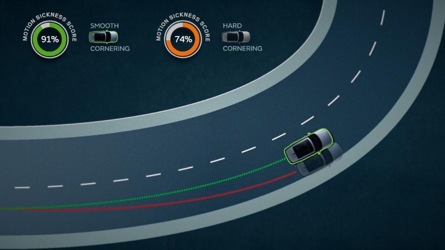 Jaguar Land Rover demonstra enjoo de movimento em curvas - Divulgação