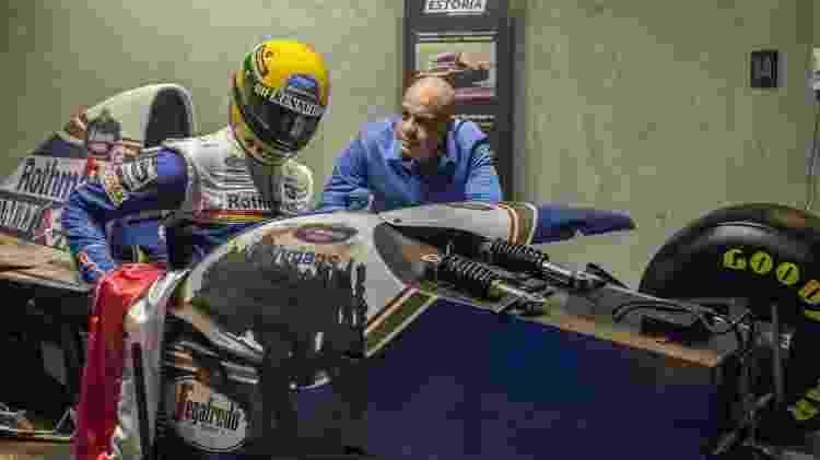 Cabral também transformou em réplica quadro no qual Senna sai andando do acidente de 1994 - Arquivo pessoal - Arquivo pessoal