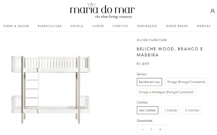 """Item disponível no site oficial da loja """"Maria do Mar"""" - Reprodução - Reprodução"""