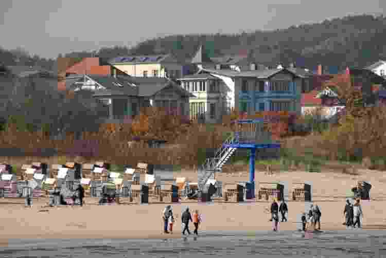 """""""Strandkorb"""" distribuidas em praia na Alemanha - Getty Images - Getty Images"""