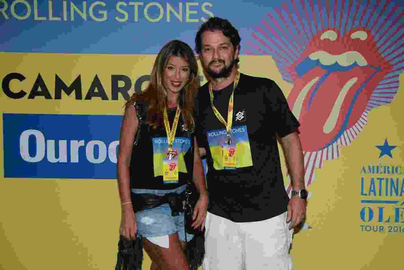 20.fev.2016 - Famosos no show do Rolling Stones no Rio de Janeiro - Thyago Andrade/Brazil News