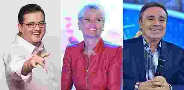 Geraldo Luís, Xuxa e Gugu devem ganhar novos horários em 2017 - Montagem UOL