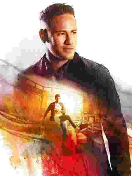 """Neymar no cartaz do filme """"XxX Reativado"""", de Vin Diesel - Divulgação"""
