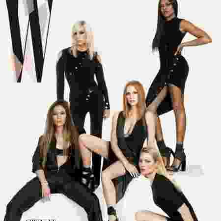 "Capa da revista ""W"" com Kate Moss, Jessica Chastain, Jennifer Lopez, Taraji P. Henson e Donatella Versace - Reprodução/W Magazine - Reprodução/W Magazine"
